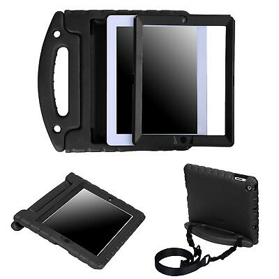 Heavy Duty iPad Case Built In Screen Protector Shoulder Strap for iPad 2/3/4
