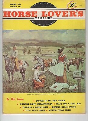 Horse Lovers Magazine Oct-Nov. 1961 Appaloosa on cover