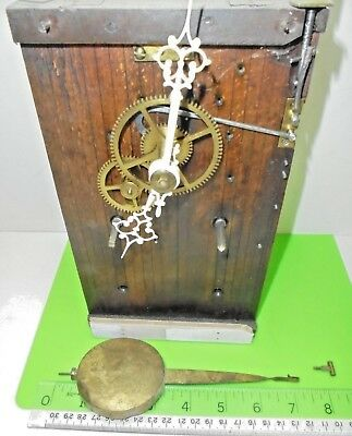 Antique Old Vintage Black Forest Double Fusee Cuckoo Clock Movement Spare Repair