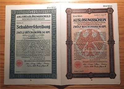 Weimar Germany, 1925 Replacement 'double Bond' - 12.5 Reichsmark Nice Vf   Hno