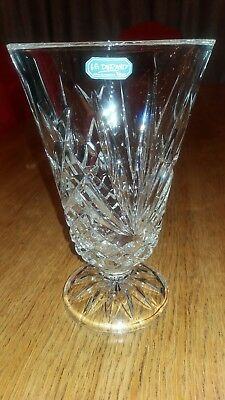 Jd Durand crystal vase 20.5cm tall 13cm across