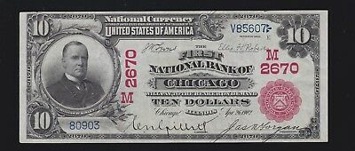 US 1902 National Red Seal 1st National Bank of Chicago FR 613 XF (607)