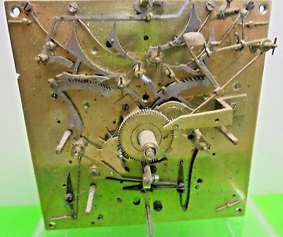 Rare Old Antique 3 Train Fusee Repeating Alarm Verge Watch Clock Movement A/f
