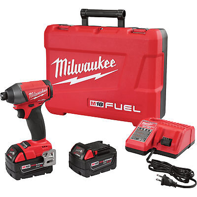 Milwaukee 2753-22 M18 1/4in Hex Impact Driver w/2 5.0Ah Extended Batteries