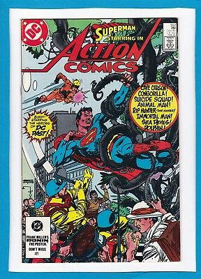 """Action Comics #552_February 1984_Very Fine_Superman_""""the Heroes Of Dc Past""""!"""
