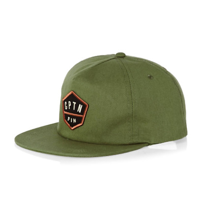 0a2732555b2 2018 NWT MENS CAPTAIN FIN HOME PLATE CAP  27 o s olive hat cotton snapback
