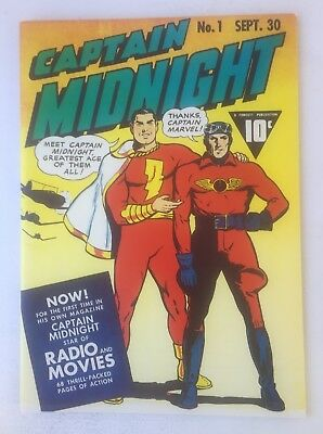 CAPTAIN MIDNIGHT #1 FROM 1942 FLASHBACK SPECIAL EDITION REPRINT #37 ~ Romeo!
