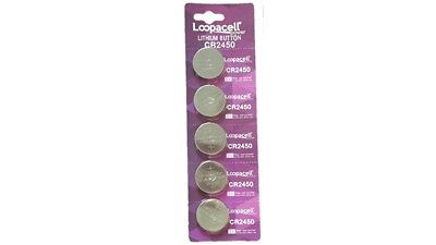 5 pcs CR2450 CR 2450 3v Lithium Batteries Button Cell Loopacell USA Fast Ship