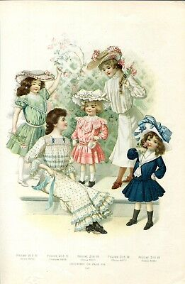 2- Victorian Fashion Pages for Women & Children