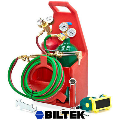 Oxy Acetylene Victor-Style Welding Cutting Outfit Torch Kit W/ 2 Cylinder Tanks