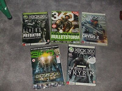 Vintage Official Xbox 360 Magazines Issue 47 49 70 71 80  2009–2012 Free Postage