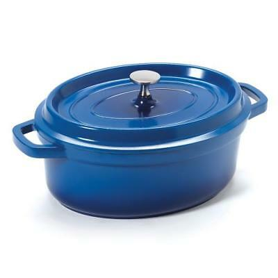 GET Enterprises - CA-009-CB/BK - 3 1/2 qt Blue Induction Ready Dutch Oven