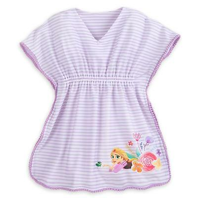 Disney Store Princess Belle Girl Swimsuit Hooded Cover Up Size 5//6