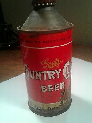 Vintage Country Club Cone Top Beer Can Rough Condition As Found Rust Damage Fair