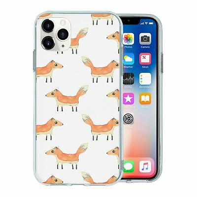Silicone Phone Case Back Cover Foxes Dogs Animal Pattern - S962