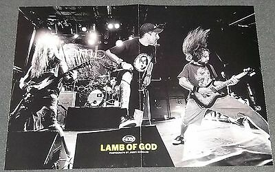 Lamb of God live onstage 11 x 15 centerfold poster Girls of Vivid Video