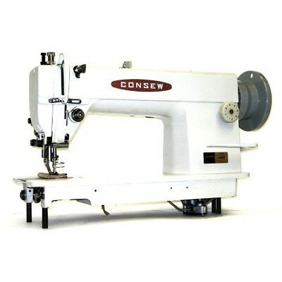 Consew 205RB-1 Walking Foot Top and Bottom Feed Upholstery Sewing Machine