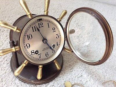 Chelsea Ship's Bell Clock 1935-1939 Serial 238062 With Key