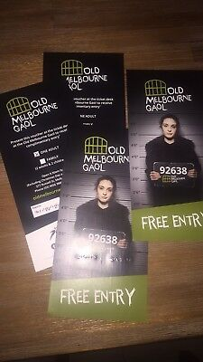 Admit 4 Adult Passes To Old Melbourne Gaol RRP $112 Unwanted Prize