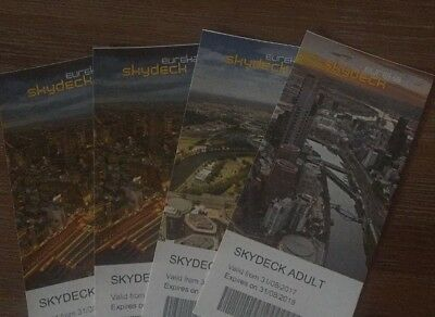Eureka Skydeck - Admit 4 X Adults RRP $88 Melbourne