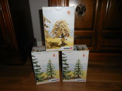 3 Schleich Trees Small Schleich Fir 30653 Oak Tree 30651 (2 New, 1 Used) Boxes