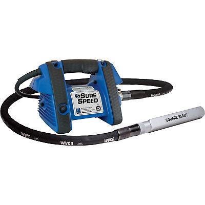 Wyco Sure Speed 3 HP Concrete Vibrator w/7ft Shaft 1 3/8in Square Head 10500VPM