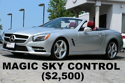 """Mercedes-Benz SL-Class SL400 Roadster 2015 MAGIC SKY CONTROL 19"""" AMG Sport Wheels PKG Silver on Red Nappa Leather"""