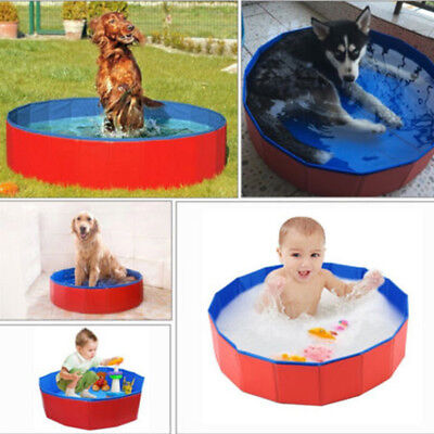 Dog Pool Bath Cat Puppy Pet Home Outdoor Indoor Portable Foldable Durable Sturdy