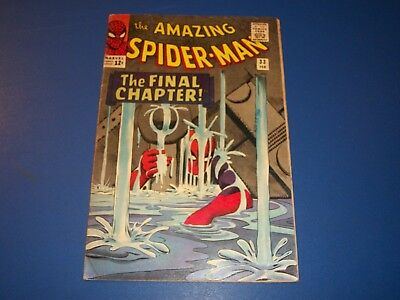 Amazing Spider-man #33 Silver Age Nice Cover Fine-