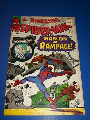 Amazing Spider-man #32 Silver Age Solid Key Issue Wow Fine+/Fine Beauty