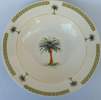 Gibson Palm Bay Soup Cereal Bowl(S) Palm Tree 9 1/8""