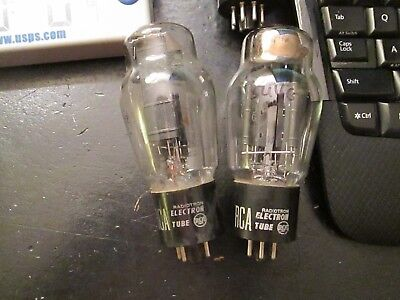 Strong ~matched pair RCA 5U4G vacuum tubes test 85-95% of NOS new