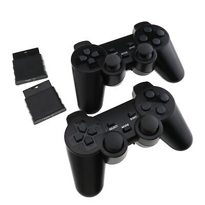 2x Wireless Game Controller Joypad Gamepad Dual Vibration Dual Shock For PS2 EZ