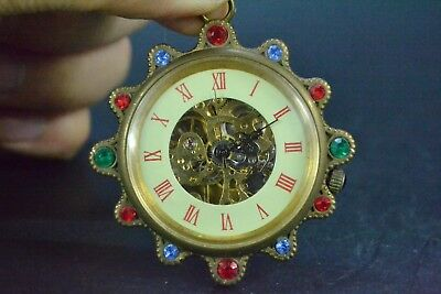 Chinese decor rare Copper the Hand-mechanical Used noble bead usable work Clock