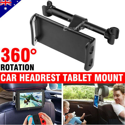 Universal Car Seat Back Metal Headrest Mount Holder iPhone iPad Samsung Tablet