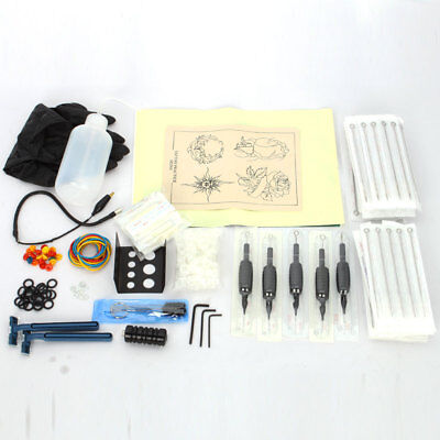 100 Needles 20 Tips 100 Ink Cups Practice Skin Tattoo Supplies Complete Kit Set