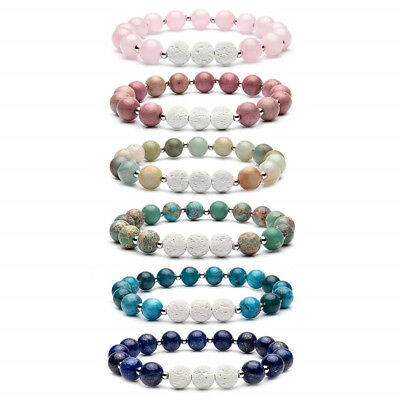 8mm Beads Natural Aromatherapy Lava Stone Healing Bracelet for Women Jewelry