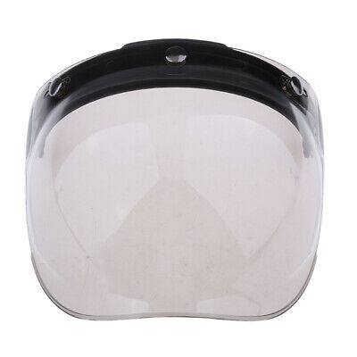 3 Button Flip Up Bubble Visor Shield for Open Face Motorcycle Helmet