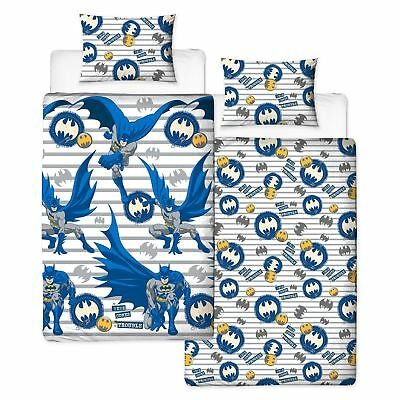 Dc Comics Batman Trouble Single Duvet Cover Set Boys Bedroom - 2 In 1 Design