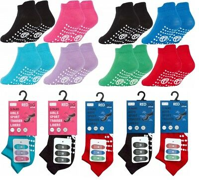 3 Pairs of Kids Boys Girls Gripper Trainer Socks Sports Liners Trampoline