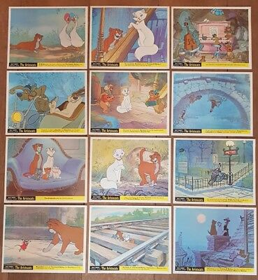 12x THE ARISTOCATS ORIGINAL WALT DISNEY LOBBY CARD