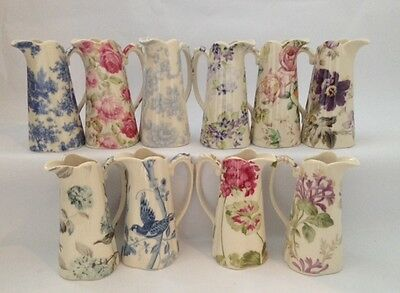 """Lord Nelson Ware Shabby Chic / Vintage Style Ceramic Edwardian 4.5"""" Jug Various"""