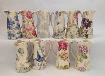 """Lord Nelson Ware Shabby Chic / Vintage Style Ceramic Edwardian 10"""" Jug Various"""
