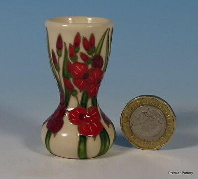 "MOORCROFT Floral Months Of The Year August Gladioli Miniature 2"" Vase"
