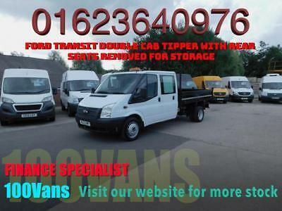 FORD TRANSIT 2.2TDCi DOUBLE CAB TIPPER  EU5 RWD T350L FINANCE AVAILABLE