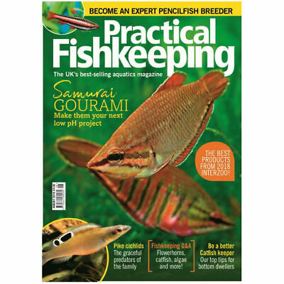 Practical Fishkeeping Magazine August 2018 Issue 8 PFK Mag Aquarium Ponds Fish P