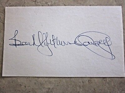 Autographed  3 X 5 Card by Ben Nighthorse Campbell, native American Senator