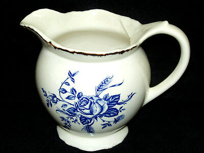 Wood & Sons~COLONIAL ROSE BLUE  Pitcher/Jug ~New~Made in England