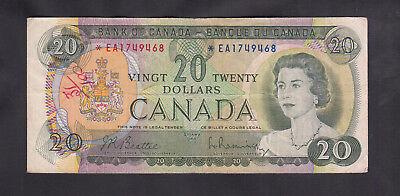 1969 Canada 20 Dollars Replacement Bank Note