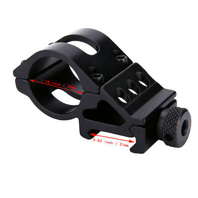 "45 Degree Side 1""25.4mm Ring Offset QD Quick Release Scope Rail Mount Flashlight"